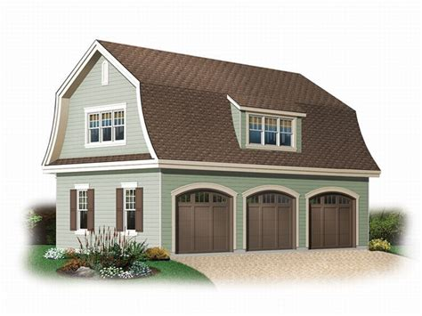 Unique Car Garage Plan With Gambrel