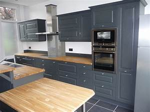 cuisine equipee chene gris fonce cuisines liebart With idee deco cuisine avec modele de cuisine repeinte en gris