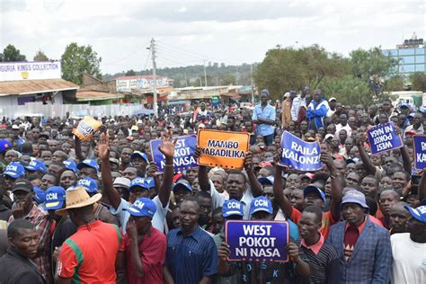 Raila In Kapenguria West Pokot, Thousands