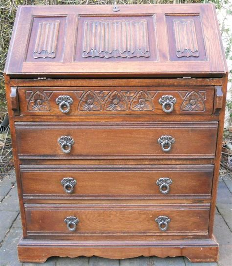 oak writing bureau uk charm carved oak writing bureau
