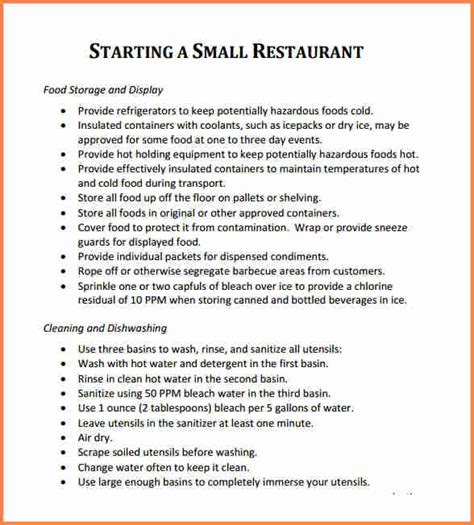 business proposal  restaurant project proposal