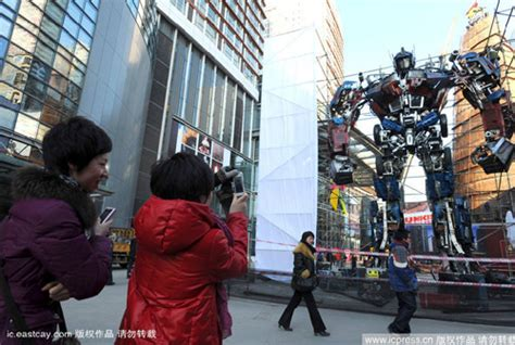China shows off the worlds tallest optimus prime statue