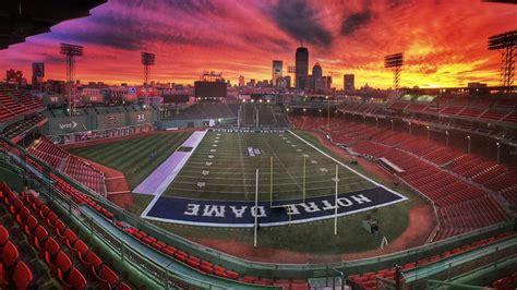 fenway park converted   football field