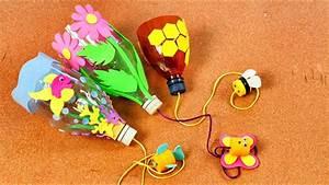 ¿Como hacer un balero con botellas de plástico? Manualidades para niños Reciclaje YouTube