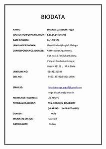 Excel Resume Templates Download Image Result For Marriage Biodata Format In Pdf File