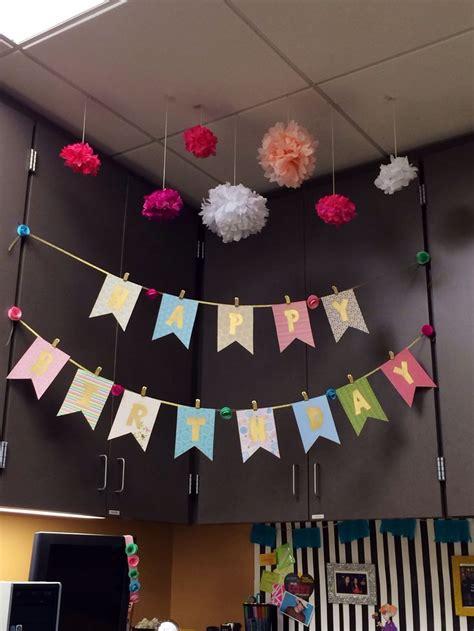 office birthday decoration   desk mate scrapbook