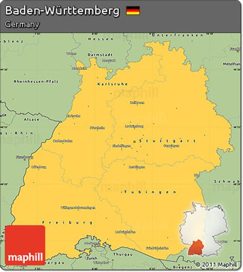 You are free to use the above map for educational purposes (fair use); Free Savanna Style Simple Map of Baden-Württemberg