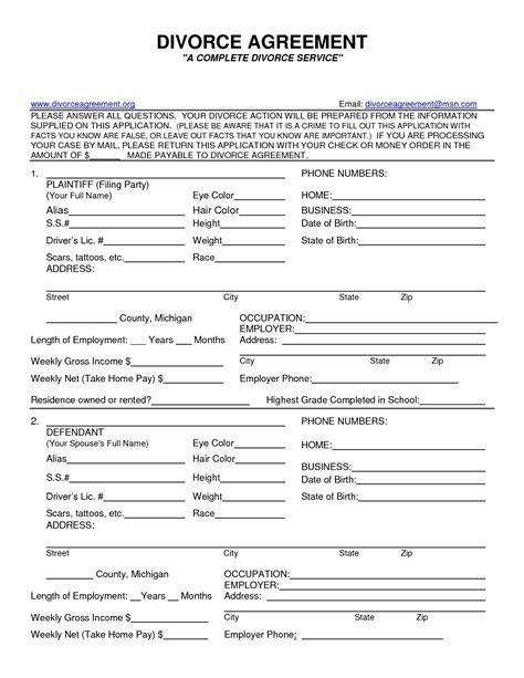 printable divorce papers missouri
