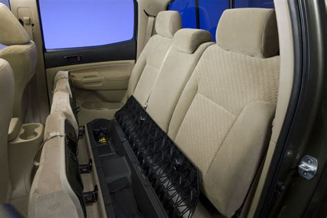 toyota tacoma double cab rear seat storage picture