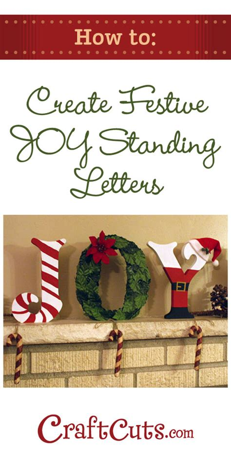 decorative christmas letters create festive standing wood letters diy craftcuts