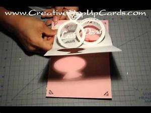 wedding invitation pop up card linked rings tutorial With pop up wedding invitations tutorial