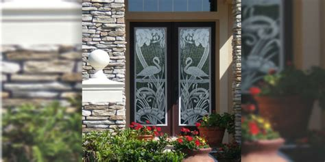 tropical etched glass doors etched glass doors florida