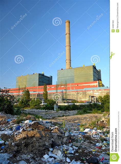 garbage   factory stock photography image