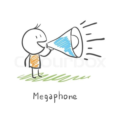 Megaphone Loudhailer Speaker 183 Free Vector Graphic On Pixabay And Megaphone Stock Vector Colourbox