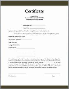 Conformity certificate template microsoft word templates for Certificate of manufacture template