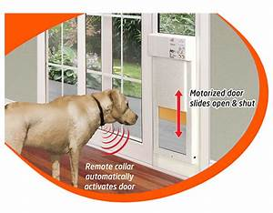 large power pet low e fully automatic patio door extra tall With automatic locking dog door