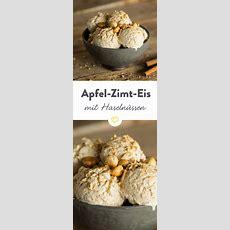 Apfelzimteis Mit Gerösteten Haselnüssen Rezept