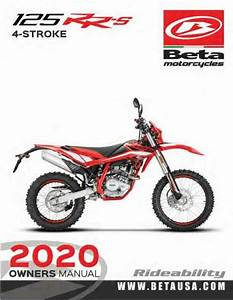 Beta Owners Manual Guide Book 2020 Rr 125 Lc  125 Rr