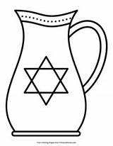 Hanukkah Coloring Oil Pages Pitcher Pdf Printable Primarygames sketch template