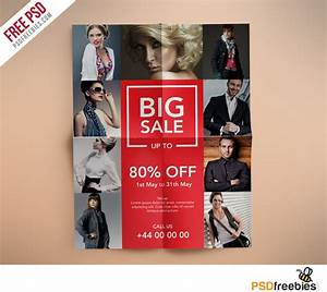 fashion retail sales flyers free psd template With fashion flyers templates for free