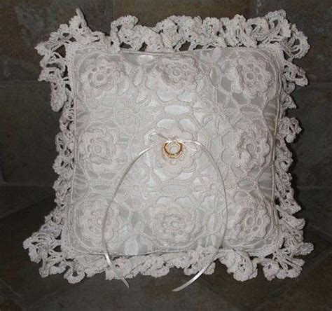 crochet ring bearer pillow sewing projects crochet rings ring pillow wedding crochet wedding