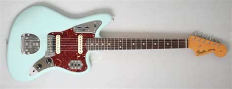 Blue Fender Jaguar by Fender Custom Shop 62 Jaguar Closet Classic Faded Sonic