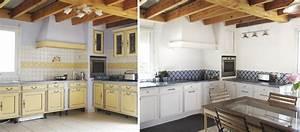 Cuisine Repeinte En Blanc : moderniser une cuisine proven ale cr dence imitation carreaux de ciment ~ Melissatoandfro.com Idées de Décoration