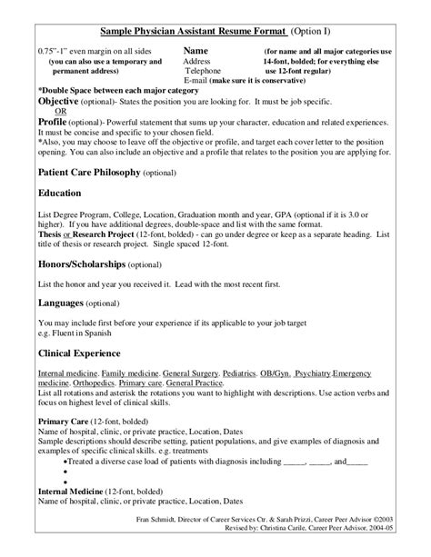surgical assistant resume template professional resume exle physician resume sle