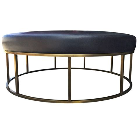 ottoman for sale near me stunning custom designed round ottoman with solid brass