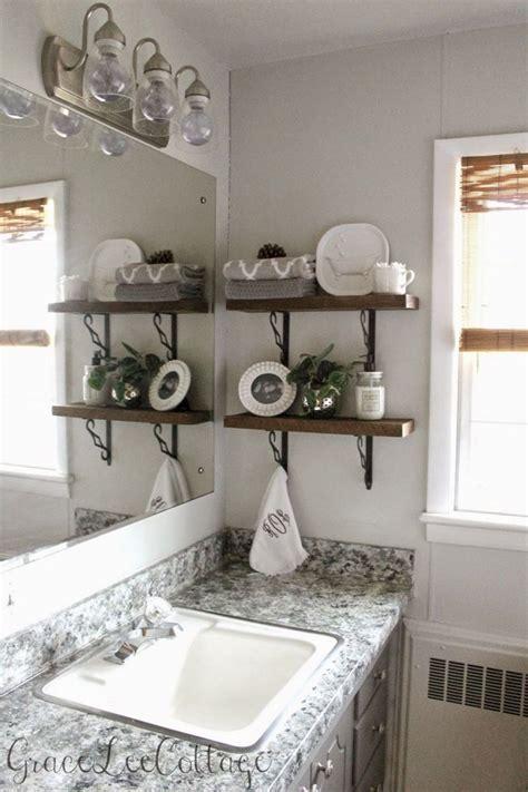 bathroom diy rustic shelves barnwood decor decorating easy projects decoredo decoration wood