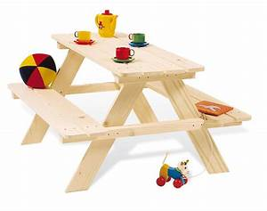 Table Enfant Bois : table picnic pour enfants en bois pinolino ~ Teatrodelosmanantiales.com Idées de Décoration