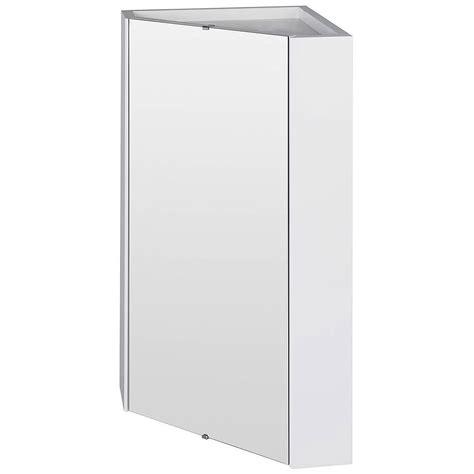 premier mayford high gloss white mm corner mirror cabinet