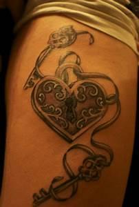 65+ Awesome Skeleton Key Tattoos