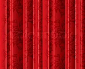 Seamless floral texture on the red curtains stock photo for Curtains flower texture