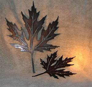 Autumn leaves metal wall decor suitable for by frolicnfriends