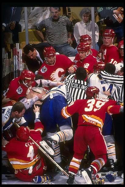 Hockey Nhl Fight Fights History Calgary Buffalo