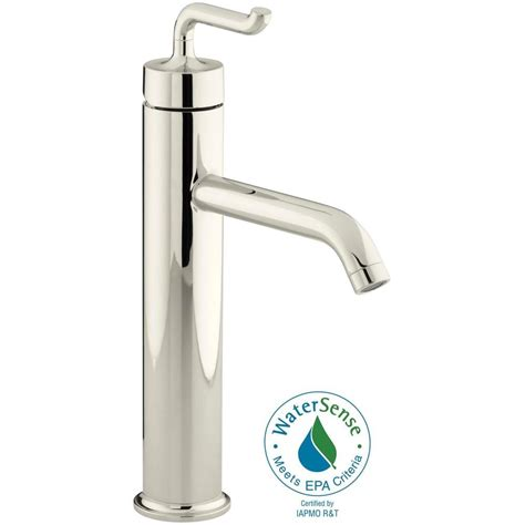 kohler purist single handle kitchen vessel sink faucet in