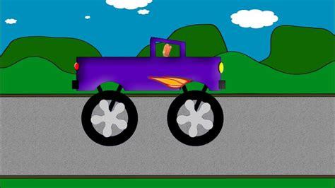 monster trucks you tube videos monster truck word crusher part 2 purple monster truck