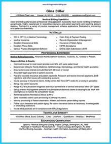 resume objective exles for billing and coding exciting billing specialist resume that brings the to you
