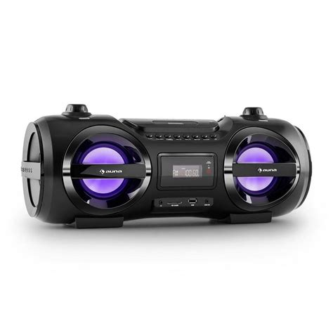 bluetooth lautsprecher stereo auna mobile boombox bluetooth lautsprecher cd player mp3 usb ukw led 187 soundblaster m 171