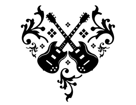 tribal guitar tattoo designs ne design