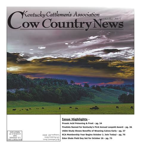 country news cow country news october 2013 by the kentucky cattlemen s association issuu