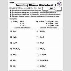 Worksheet Counting Atoms Version A  Count, It Is And Chemical Formula