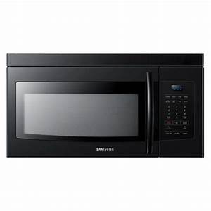 Samsung 1 6 Cu  Ft  1000 Watts Over The Range Microwave Oven In Black