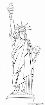 Liberty Statue York Coloring Drawing Pages Sketch Printable Easy Draw Usa Tutorials Lady Drawings Step Beginners Sketches Supercoloring Paintingvalley Prints sketch template