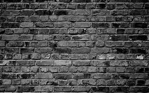 brick wallpaper grey