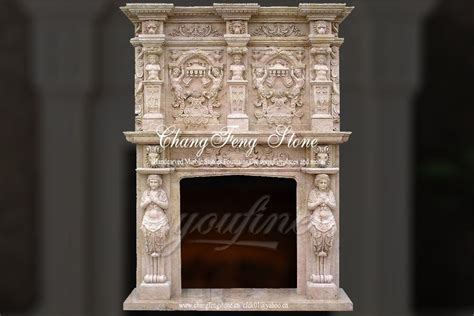 limestone fireplaces for sale luxury decorative beige marble fireplace mantel for
