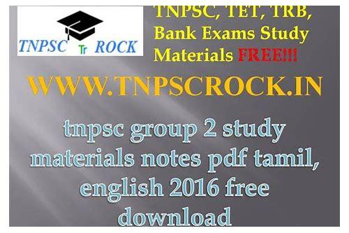 tnpsc group 1 baixar de materials in english