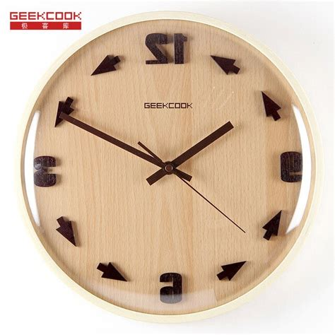 Wholesale home decorative 24 hour time digital antique home goods wall clock. Crazy Time Reversal 3D Digital 31.5cm Wood Glass Modern ...
