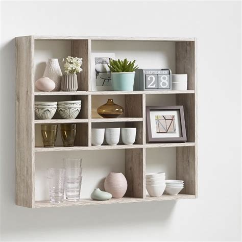 Mounted Shelving Unit by Andreas Wall Mounted Shelving Unit In Sand Oak And 9